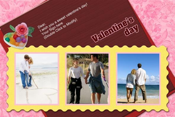 Birthday & Holiday photo templates Valentines Day Cards (8)