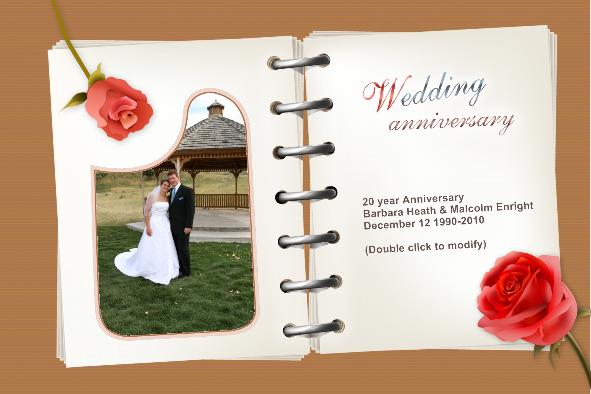 Free Photo Templates - Wedding Anniversary Cards