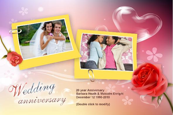 Wedding Photo Templates photo templates Wedding Anniversary Cards