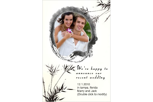 Free Photo Templates  Wedding Announcement Oriental