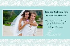 All Templates photo templates Wedding Announcement-Romantic