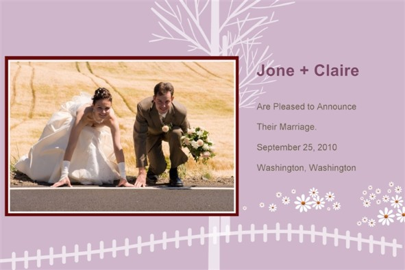 Free Photo Templates  Wedding Announcement