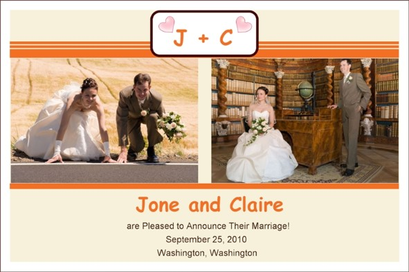 Love & Romantic templates photo templates Wedding Announcement