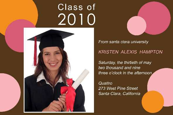 All Templates photo templates Graduation Announcement