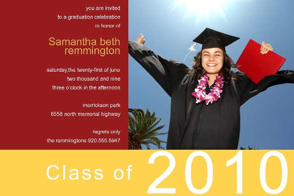 Free Photo Templates - Graduation Announcement