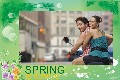 Travel photo templates Spring Coming