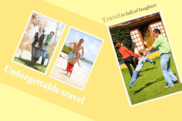 Travel photo templates Travel is Full of Laughter