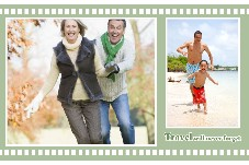 Family photo templates Travel is Full of Laughter