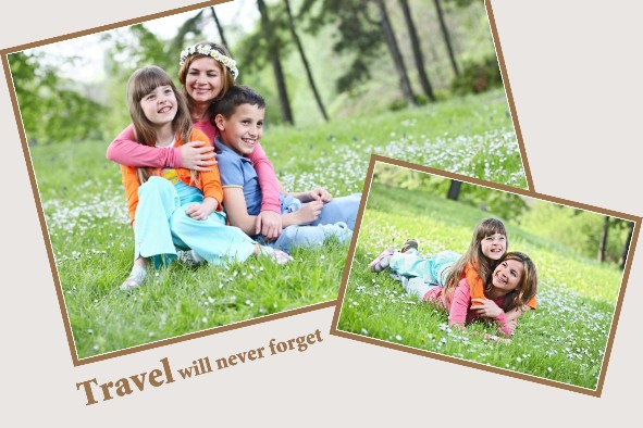 Travel photo templates Unforgettable Travel