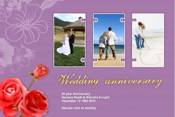 Wedding Photo Templates Anniversary Cards